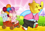Pooh and Piglet Dressup