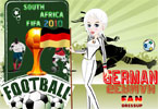 German Fan Dressup