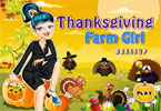 Thanksgiving Farm Girl