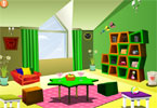 Green Attic Room Decor