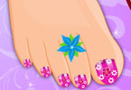 Flower Pedicure Decoration