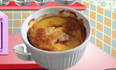Peach Basil Cobbler