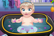Baby Ella Bathing
