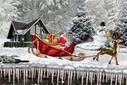Santa Christmas Delivery Snow