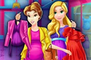 Pregnant Princesses Mall Shopping