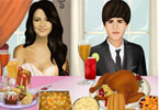 Selena and Justin Thanksgiving