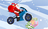 Santa Claus On Bike