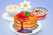 Cooking Fruit Pancakes