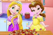 Baby And Belle Cooking Pizza