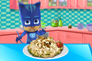 Pajama Hero Makes Risotto